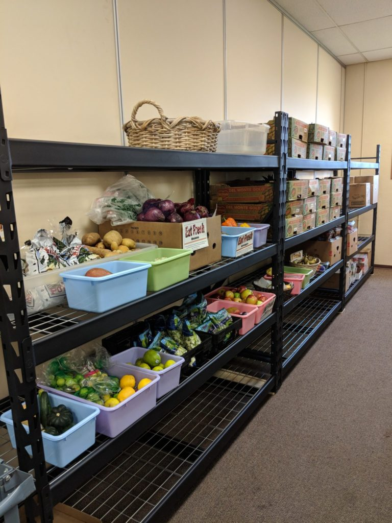 Shelves with Produce